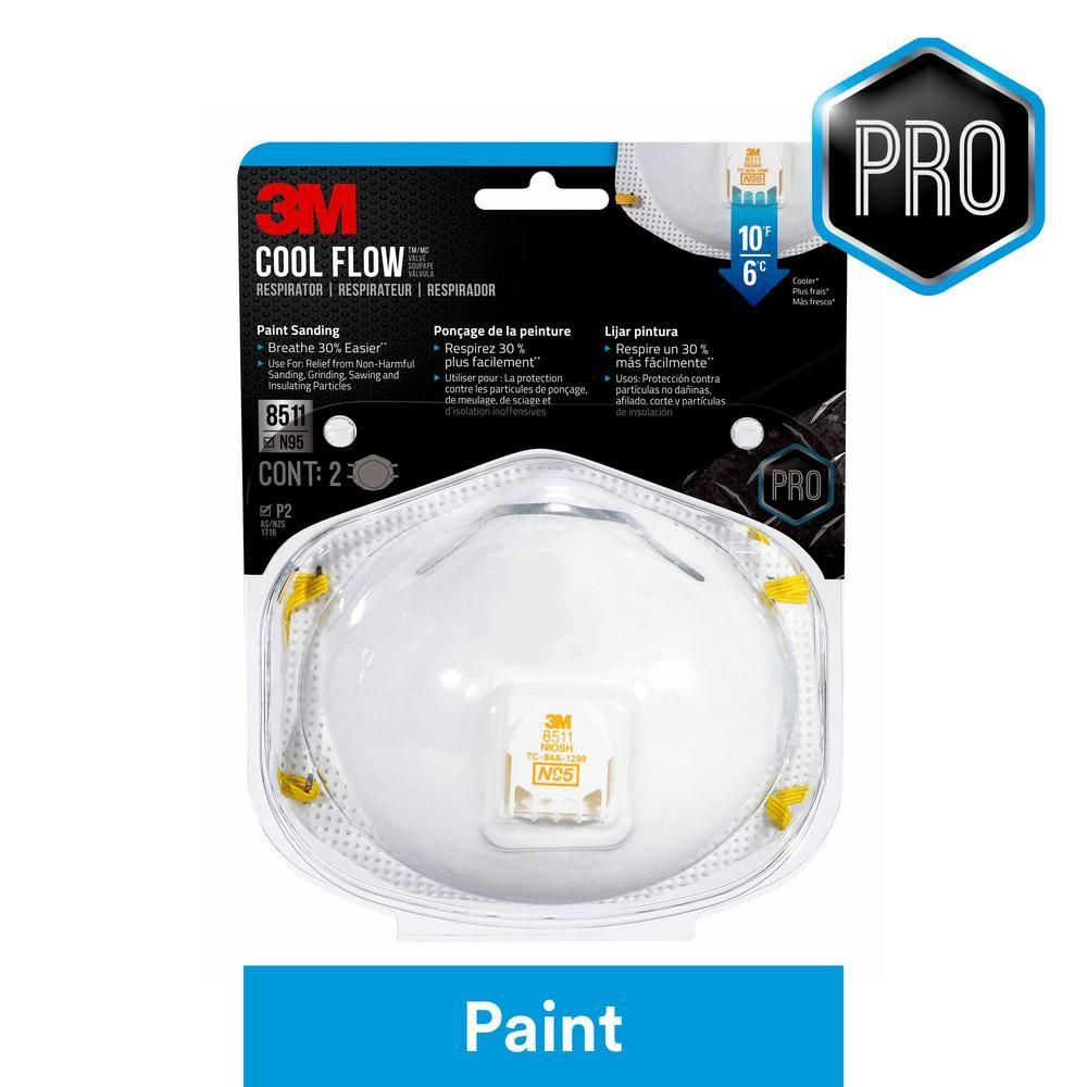3m n95 paint sanding valved respirators masks 2pack