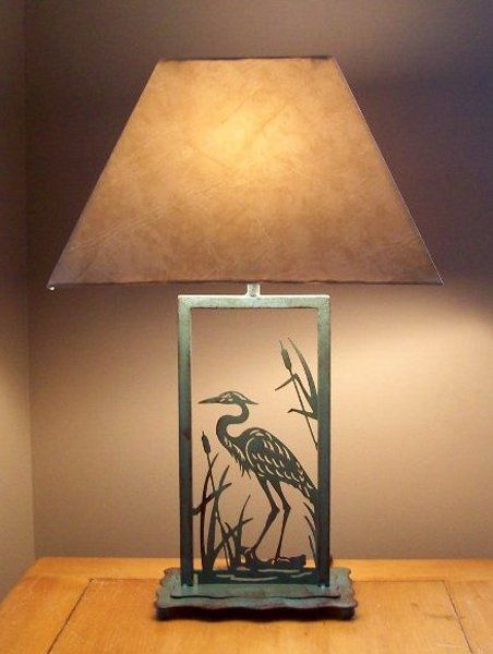 Wayfair Table Lamps >> Rustic Table Lamp with Great Blue Heron | Rustic table lamps, Blue heron, Table lamp