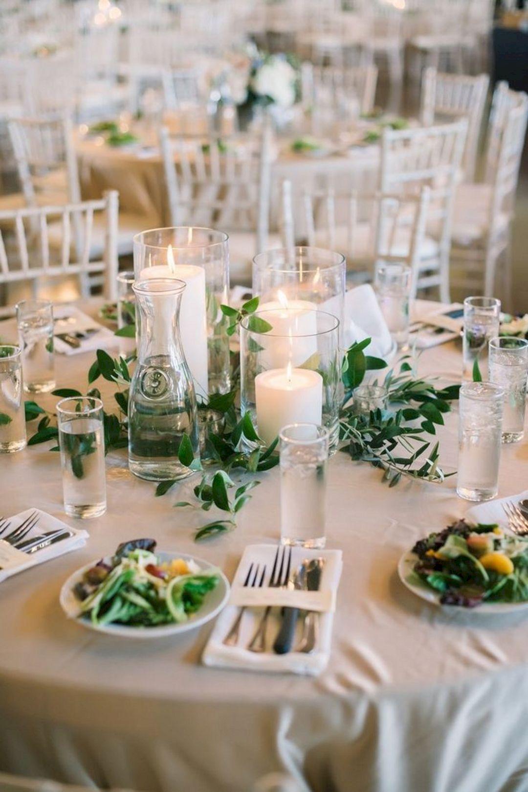 20 Gorgeous Greenery Wedding Decoration Ideas On A Budget Greenery Wedding Centerpieces Greenery Wedding Decor Cheap Wedding Table Centerpieces