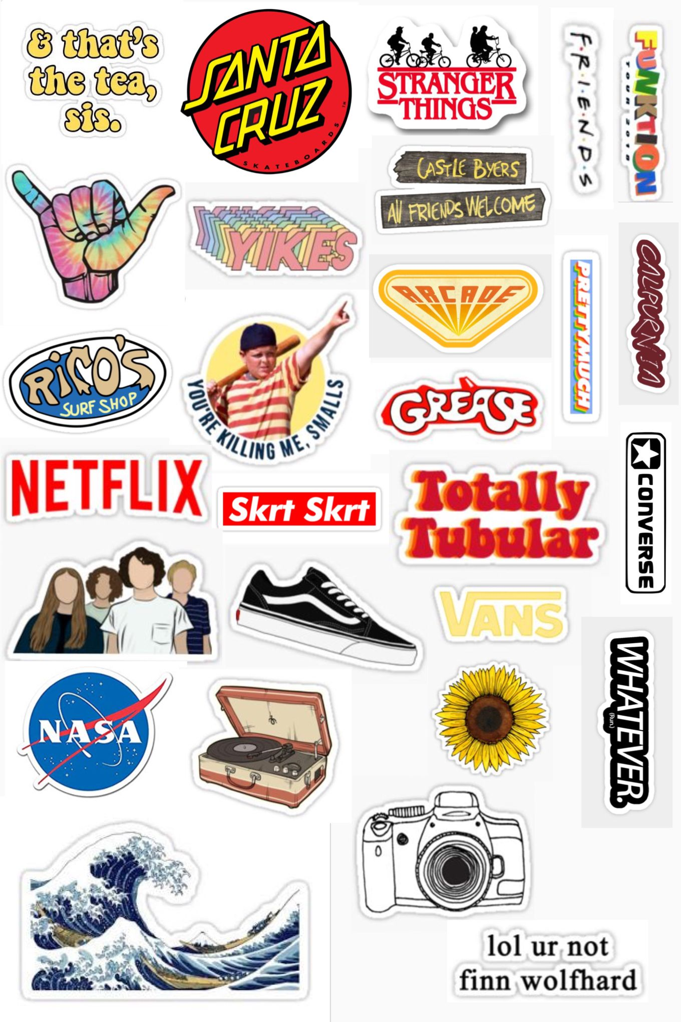 graphic about Aesthetic Stickers Printable identified as s t i c k e r s stickers ✰ within just 2019 Cell phone stickers