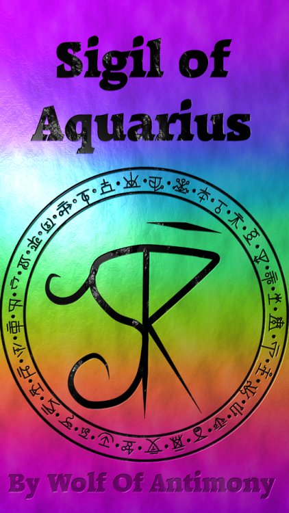 Sigil Of Aquarius Cool Wiccan Stuff Sigil Magic Wicca Magick