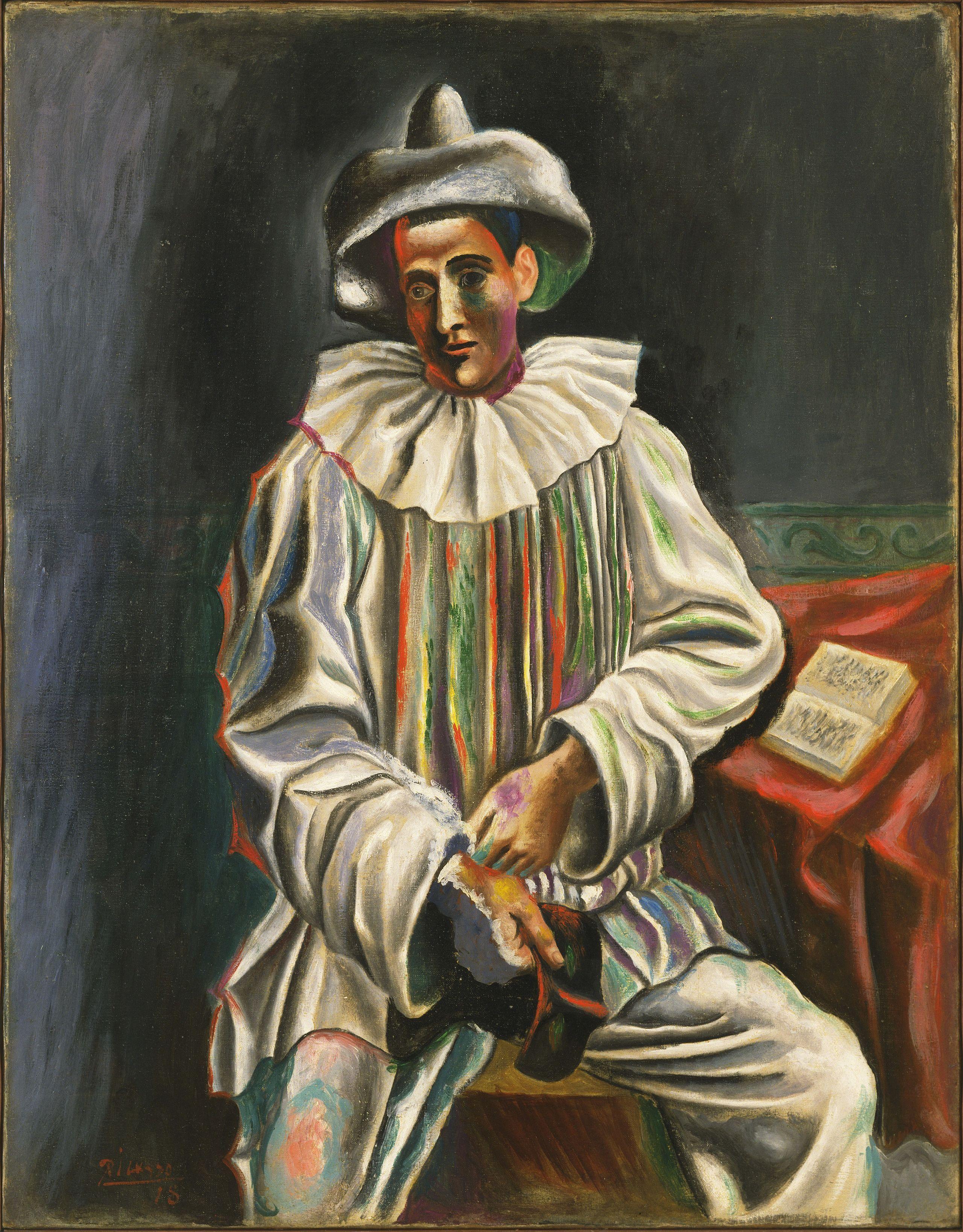 Pablo Picasso Pierrot Pablo Picasso Modern Canvas Art