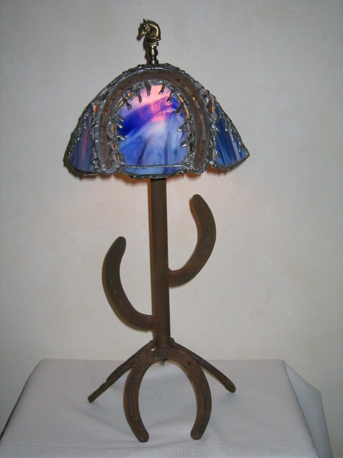 upscale lamps consignment table stained glass lamp