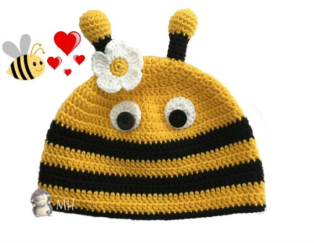 Gorro abeja a crochet | maguii castillo | Pinterest | Abeja, Gorros ...
