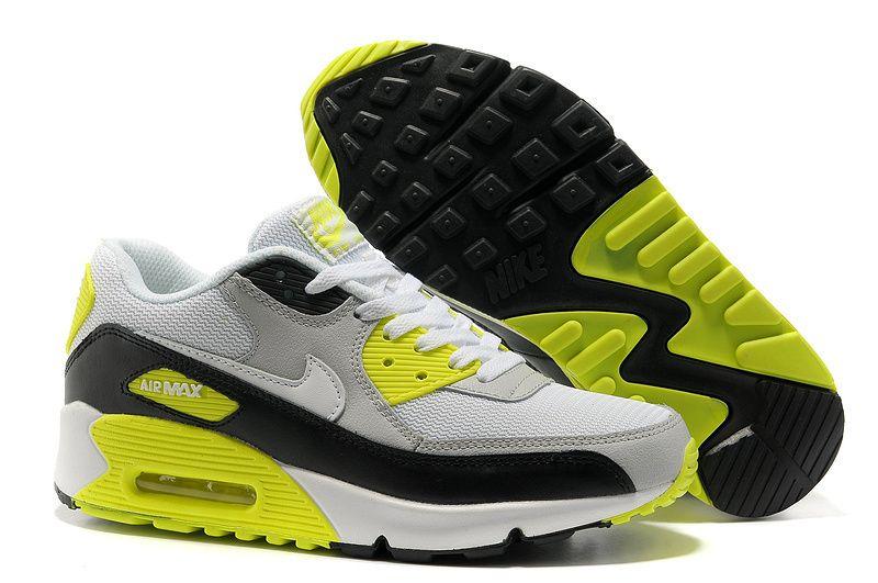 Nike Air Max 90 Herren Schuhe Grau Fluoreszenz Grun Schwarz Nike Air Max Damen Nike Air Max 90 Damen Nike Air Max