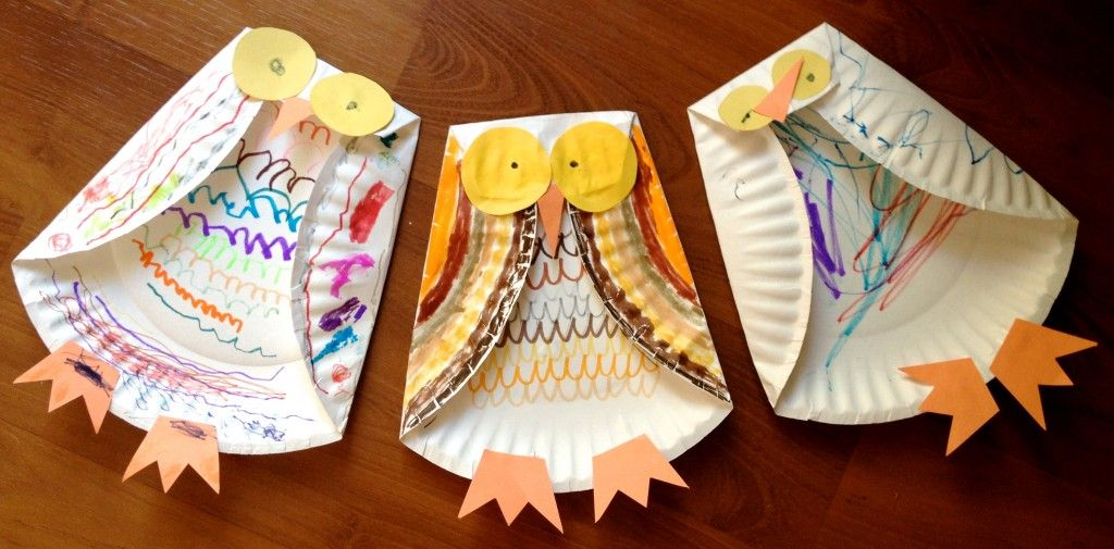 Step-by-step instructions for kids to create a paper plate owl using a paper plate markers crayons and construction paper. It\u0027s the perfect fall craft! & three paper plate owls - how sweet - I love it when people show the ...