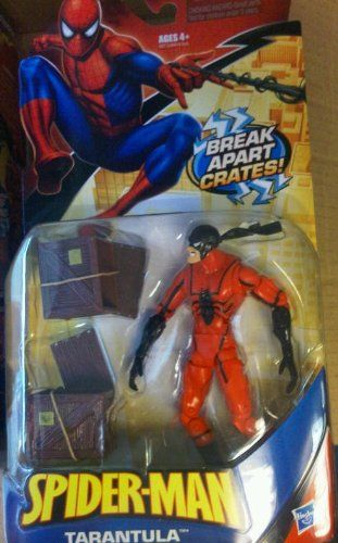 Spiderman Action Figure Tarantula With Break Apart Crates Hasbro Http Www Amazon Com Dp B004w2wwia Ref Spiderman Action Figure Superhero Toys Action Figures