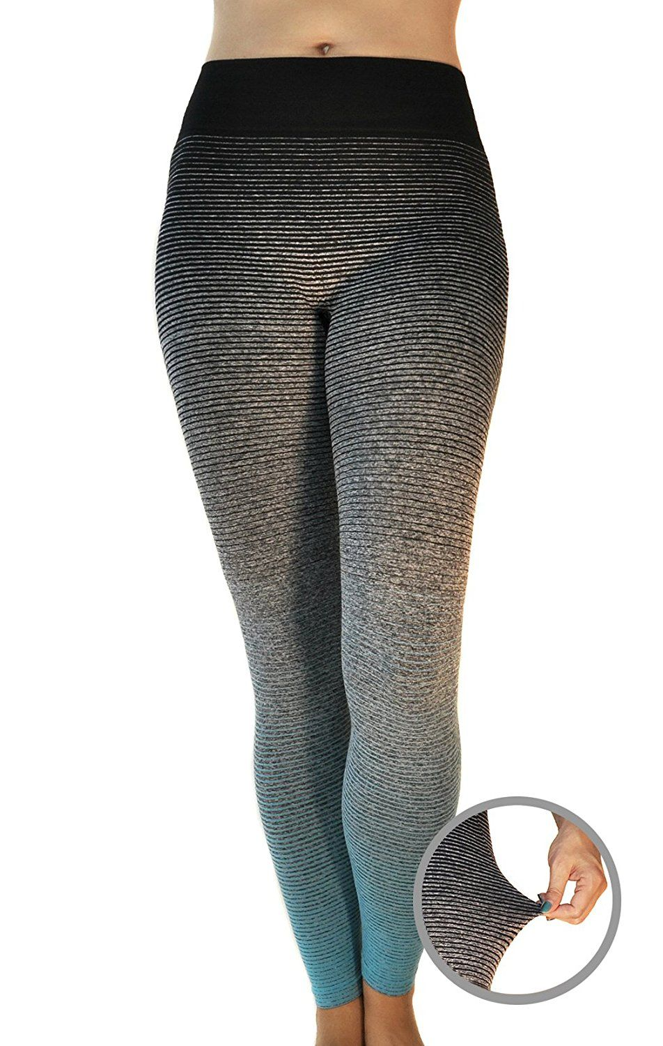 8990625702251 Dry Fit Yoga Pants - Stretchy Fold Over Waistband - Slimming Workout  Leggings Price: $16.99