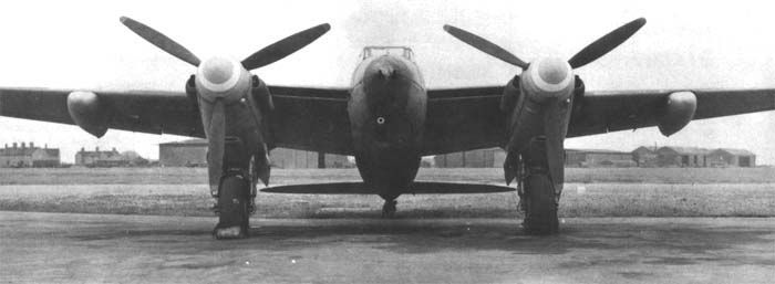 """De Havilland Mosquito FB Mk. XVIII, """"Tsetse""""/""""The flying field gun"""", as it managed a 57 mm cannon which was originally made for artillery fire."""