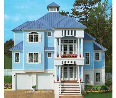 Key west cool hwbdo05964 new american house plan from for Builderhouseplans com