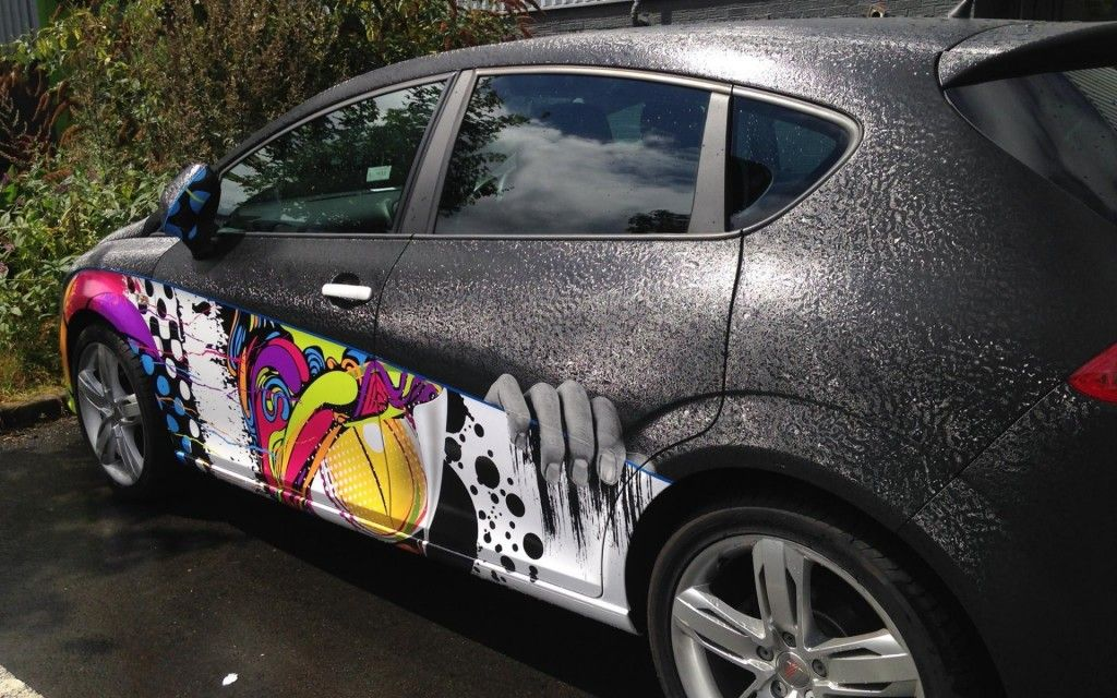 Textured Car Wrapping Vehicle Wraps Car Wrap Art Cars