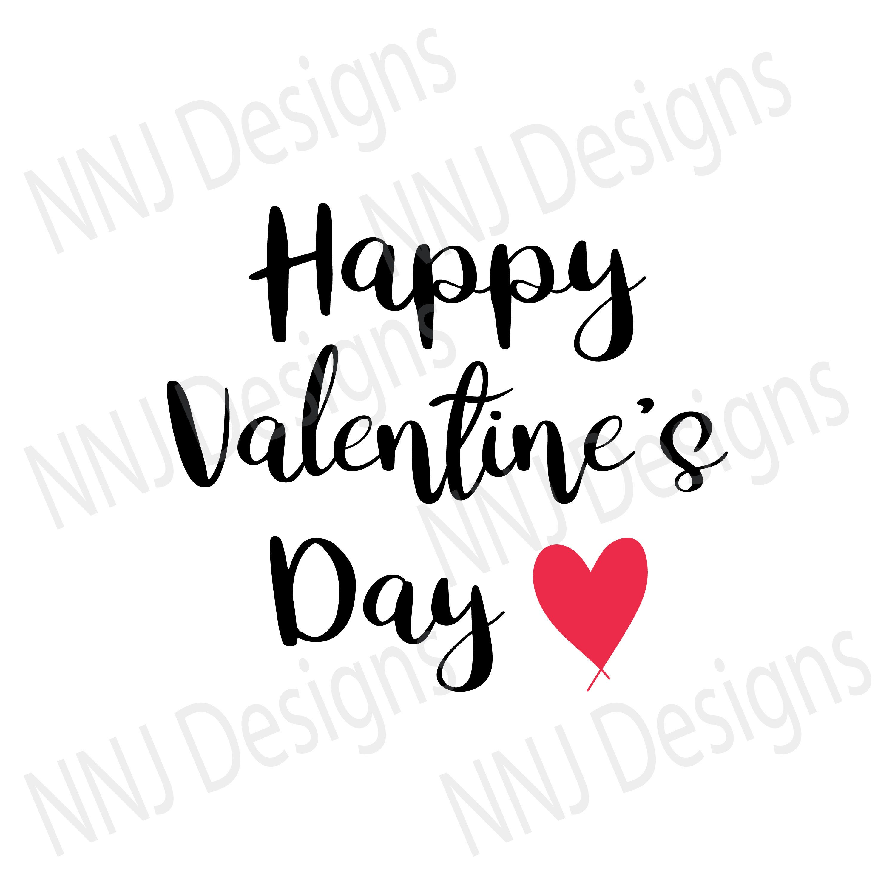 Happy Valentine S Day Svg Love Heart Couple Cute Text