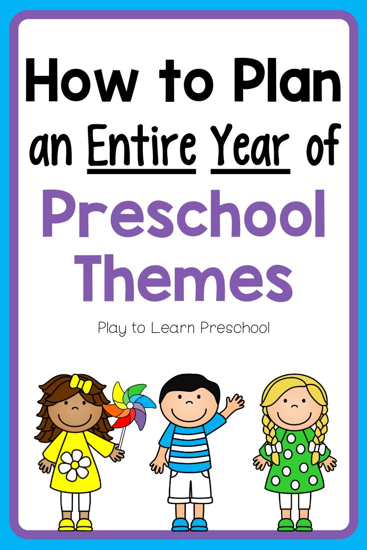 Plan an Entire Year of Preschool in 4 Easy Steps