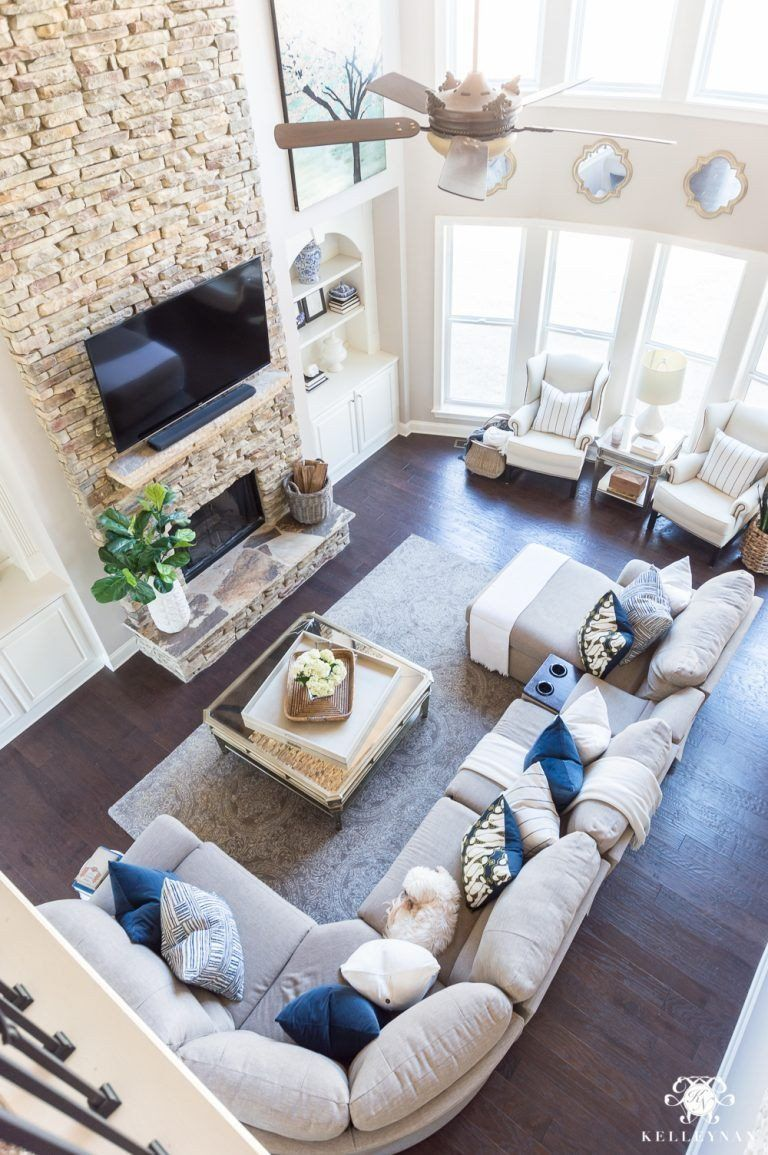 Big Living Room Ideas 2018 Spring Home Tour Decorating Ideas For Every Room In In 2020 Farm House Living Room Pottery Barn Living Room Family Room Design