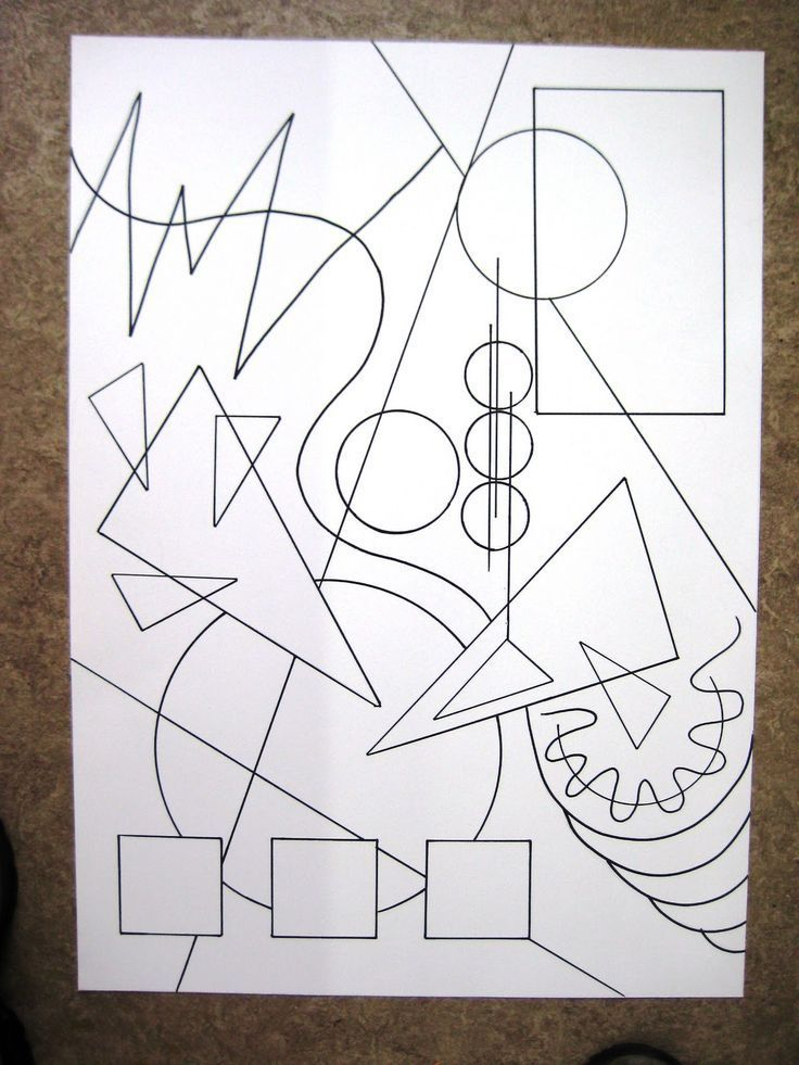Krea D Ingen Kandinsky Workshop Disegni Da Colorare Astratti Arte Elementare Arte Di Bambino