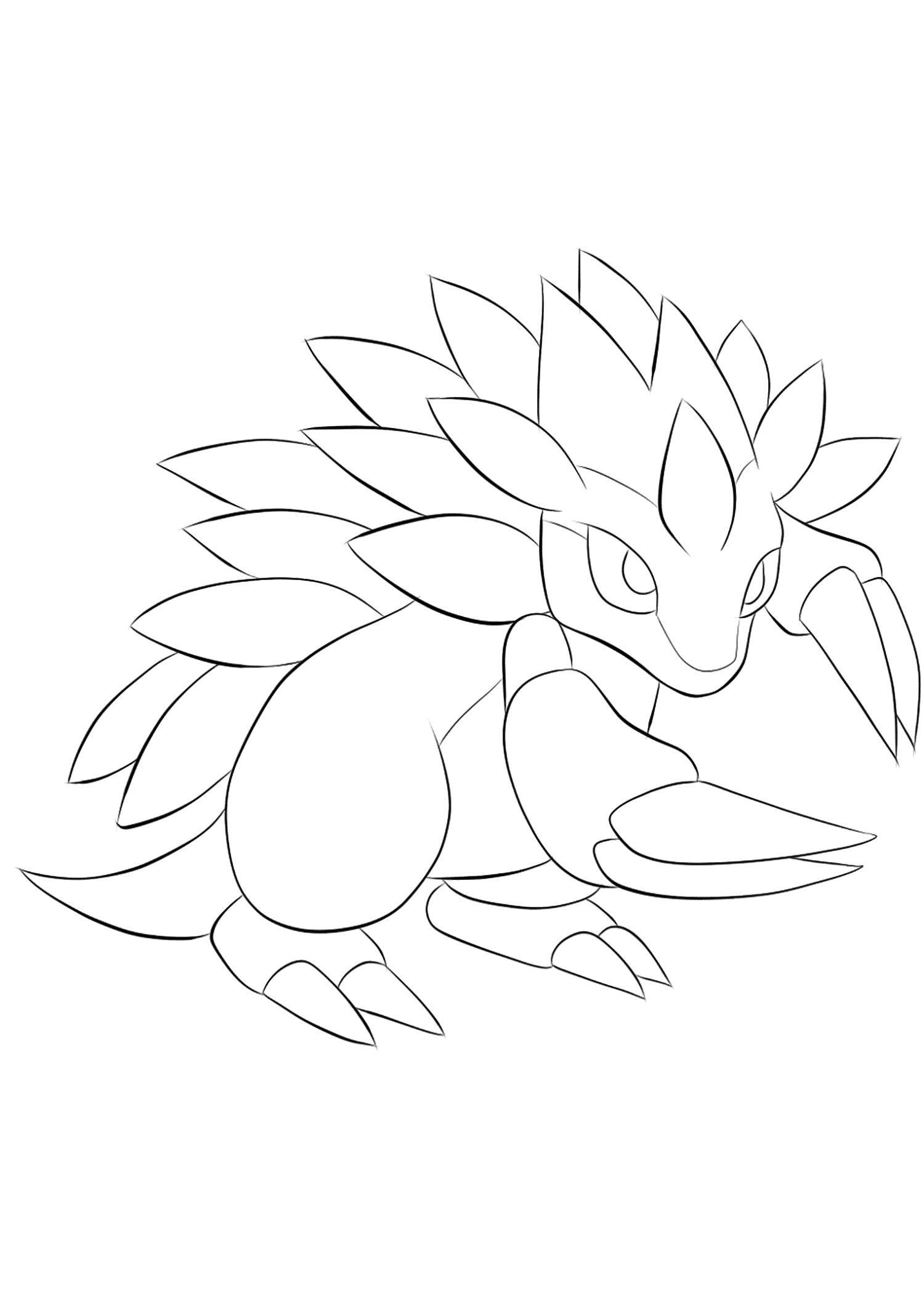 cute pokemon sandslash coloring sheet in 2020 | Pokemon ...