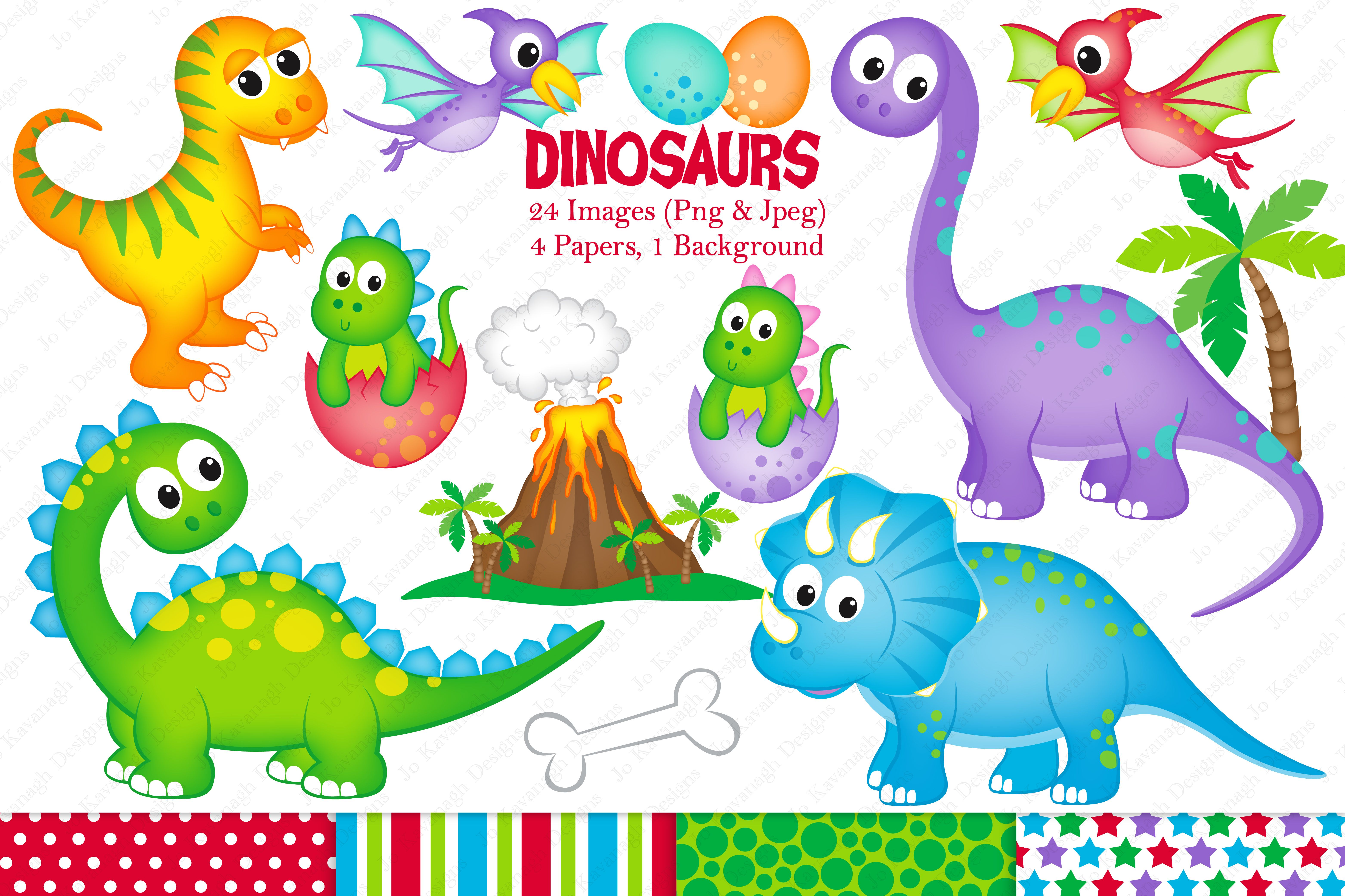 Dinosaur Clipart Dinosaurs Graphics Illustrations T Rex 74845 Illustrations Design Bundles Graphic Illustration Clip Art Dinosaur