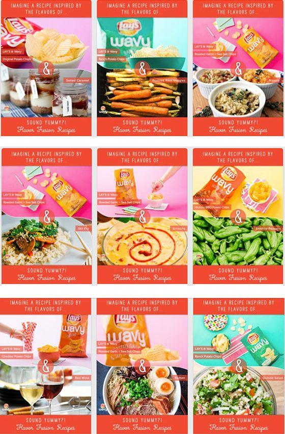 Originele Pinterest campagne! Het eerste Pinterest kookboek in de maak: 'Lay's Wavy Brand Chips Make Pinterest History with Cookbook'