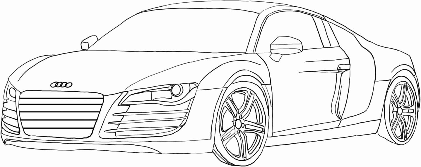 Audi R8 Coloring Pages Fresh Coluring Page Of Nice Audi Car For Kids Coloring Point Di 2020