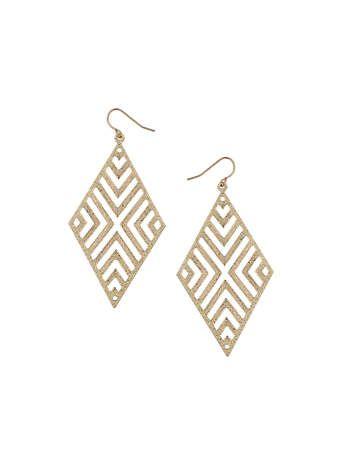 Glitter Aztec Earrings