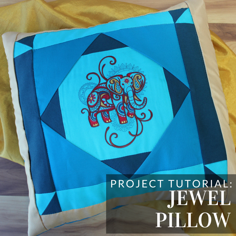 Add a beautiful pillow to your home with this tutorial from Embroidery Library.