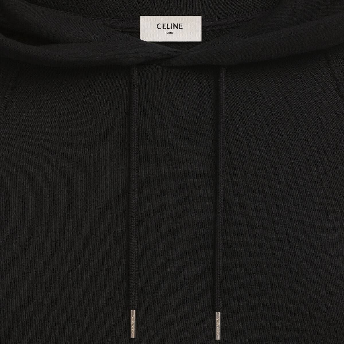 Celine Sweater In Cotton White Black Celine Sweatshirt Shirt Sweaters Sweatshirts Women [ 1200 x 1200 Pixel ]