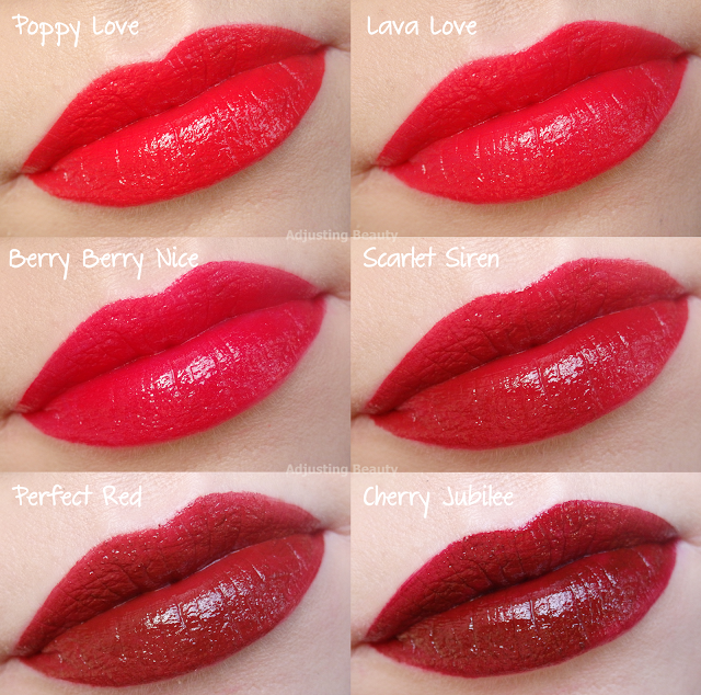 Review And Swatches Of Avon True Colour Perfect Reds Lipsticks Perfect Red Lipstick Avon True Red Lipsticks