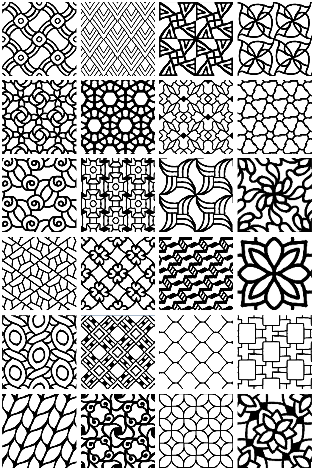 Inspired By Zentangle Patterns And Starter 7