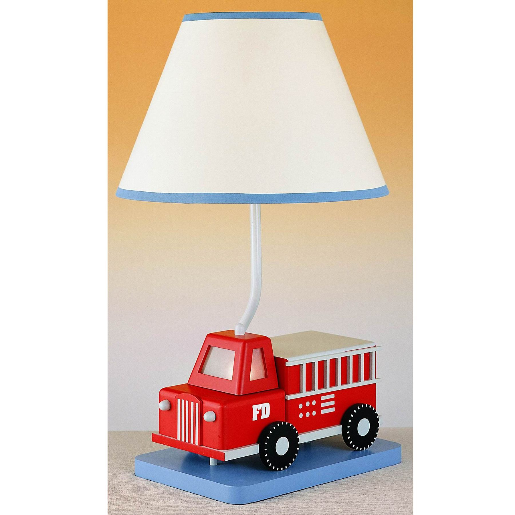 Kids Table Lamps Bedroom Cal Lighting Fire Engine Youth Table Lamp Kid Lighting