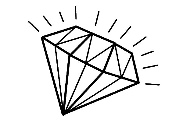 Shiny Light Diamond Shape Coloring Pages Kids Play Color Shape Coloring Pages Diamond Drawing Coloring Pages