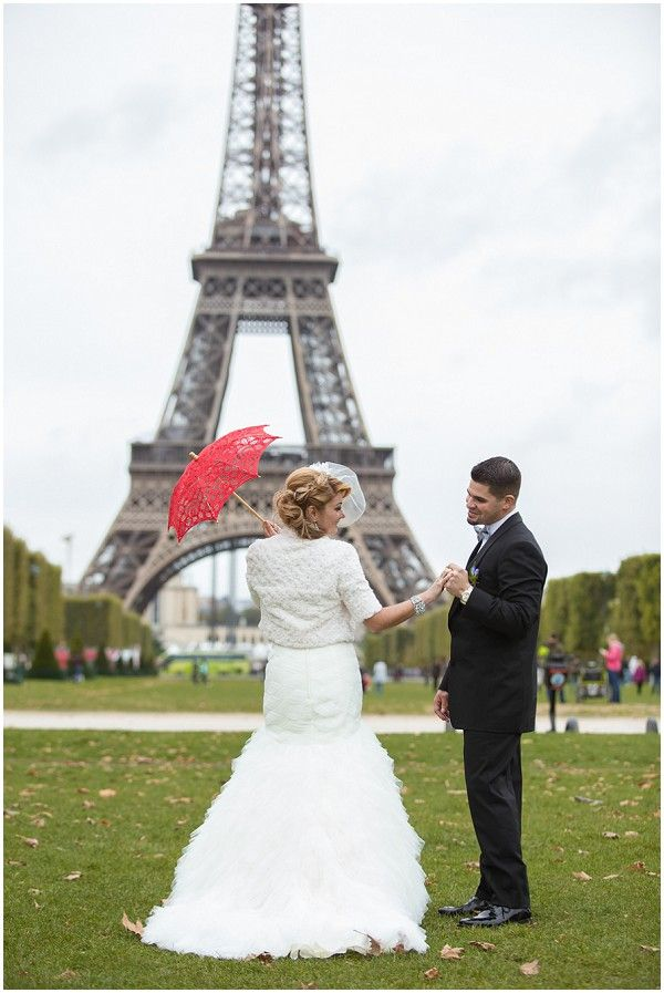 Glamorous Eiffel Tower Elopement By Wedding Luxe Elopements And
