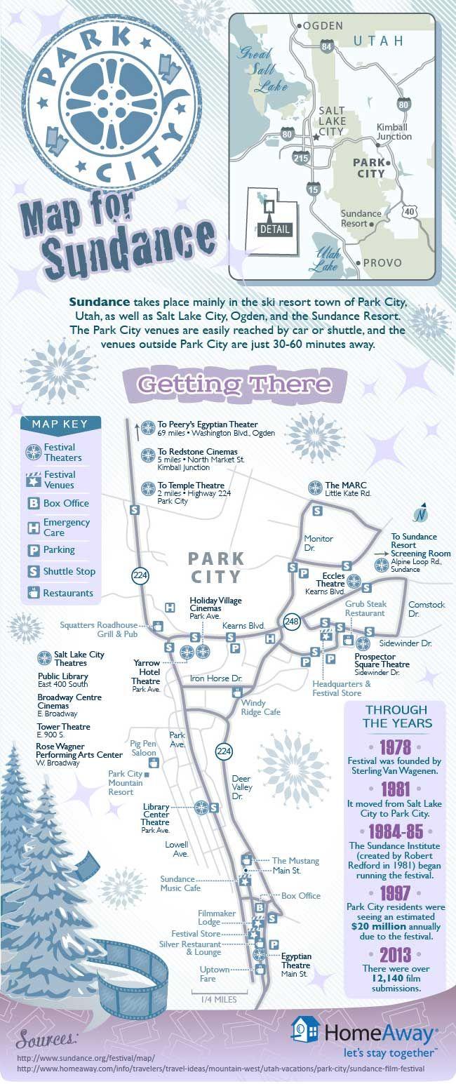 Park City Map For Sundance Infographic Rudsak Rudsak Sundance