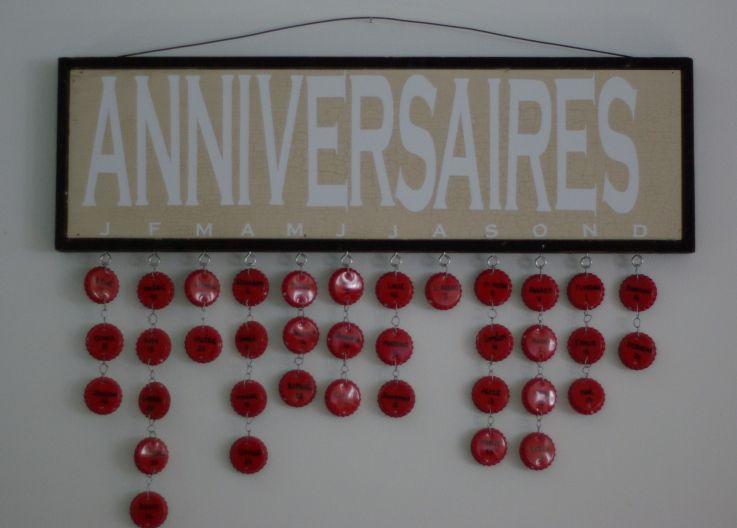 calendrier d 39 anniversaires calendrier anniversaire pinterest calendrier anniversaires et. Black Bedroom Furniture Sets. Home Design Ideas