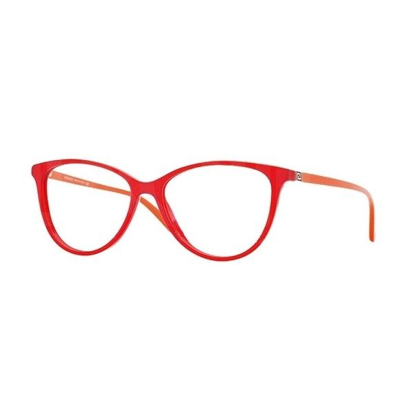 57940b1477 Versace VE 3194 938 Transparent Red Eyeglasses ( 180) ❤ liked on Polyvore  featuring accessories