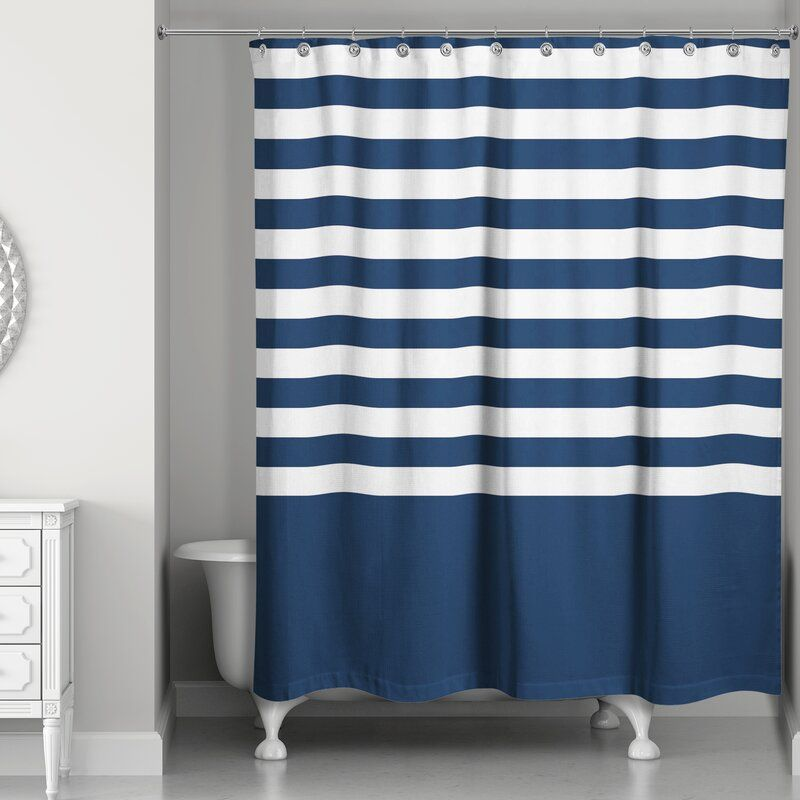 Cardinale Stripes Single Shower Curtain In 2020 Curtains