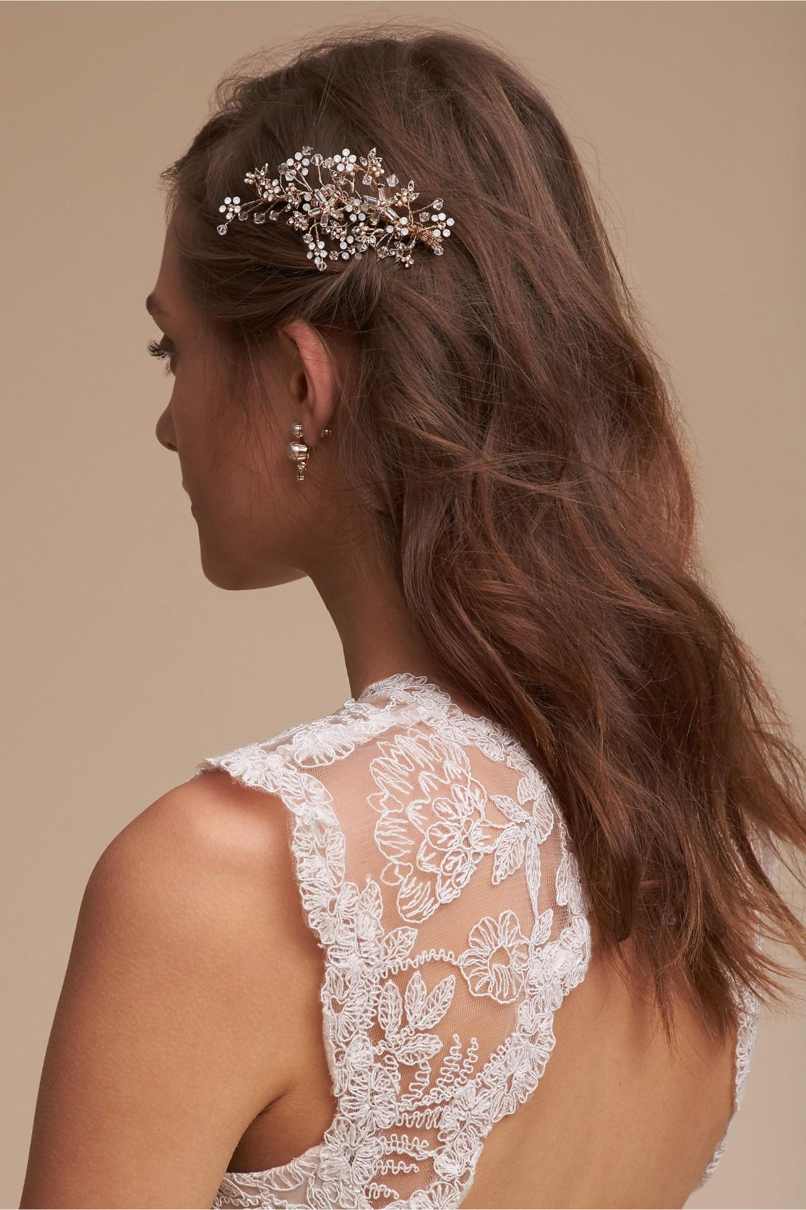 Aurelie Comb Hairdo Wedding Trendy Hairstyles Dress Makeup