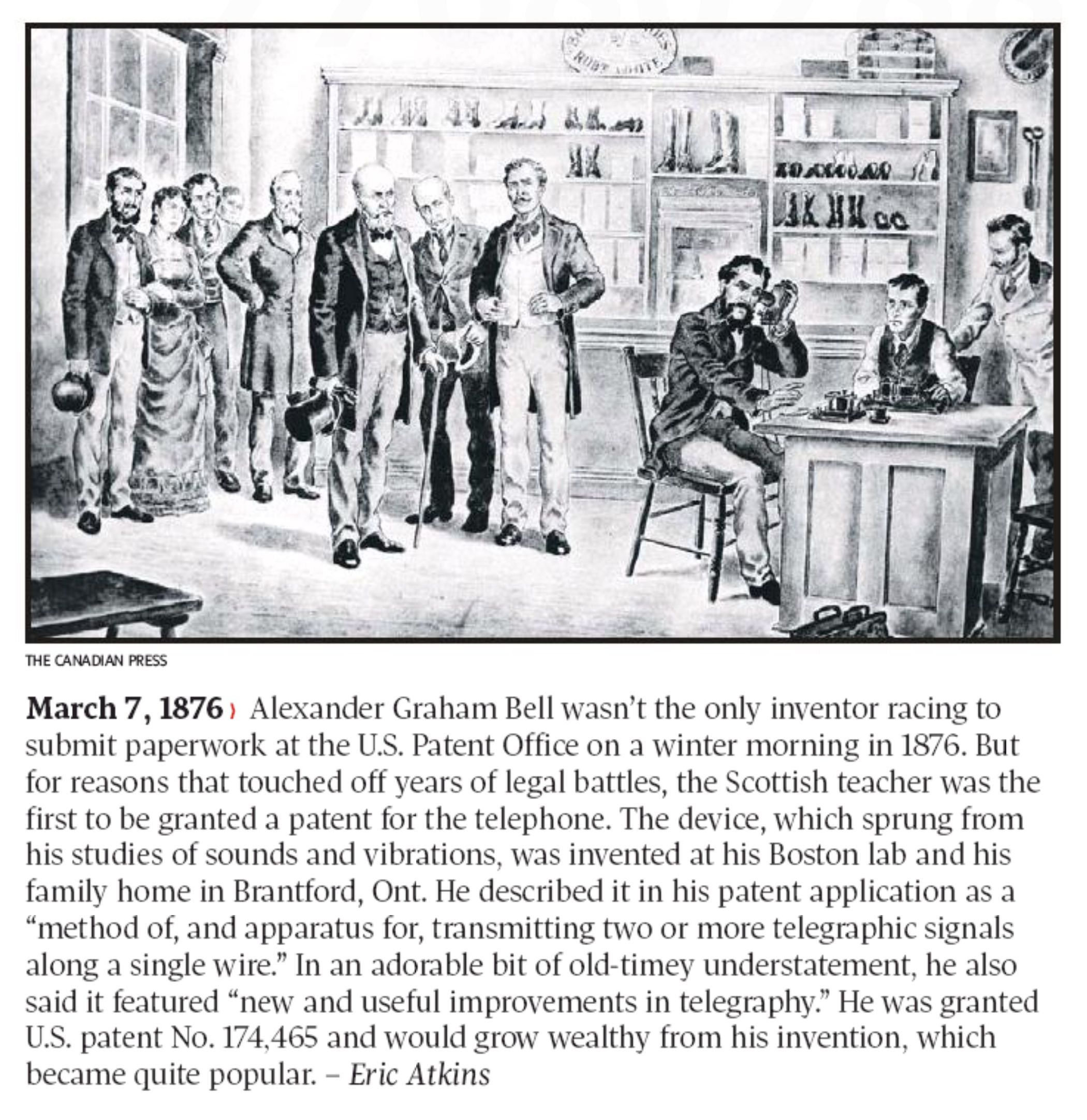March 7 Alexander Graham Bell Wasn T The Only