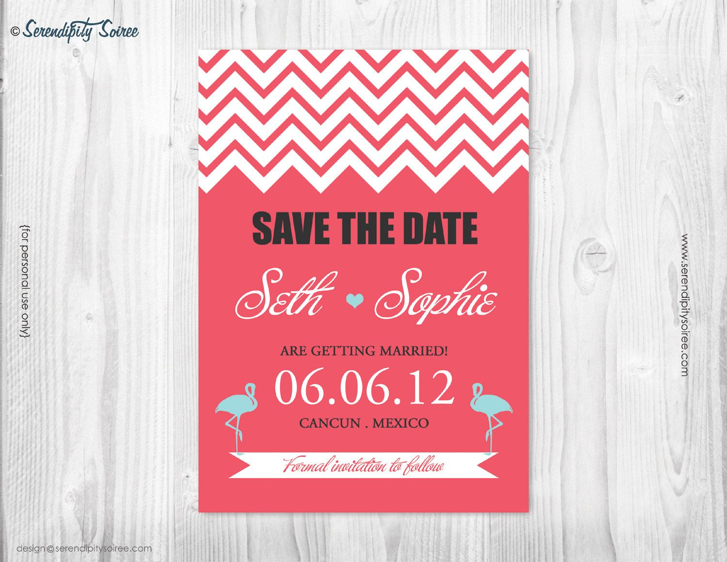 SAVE the date- Custom Printable Invitation - Destination wedding ...