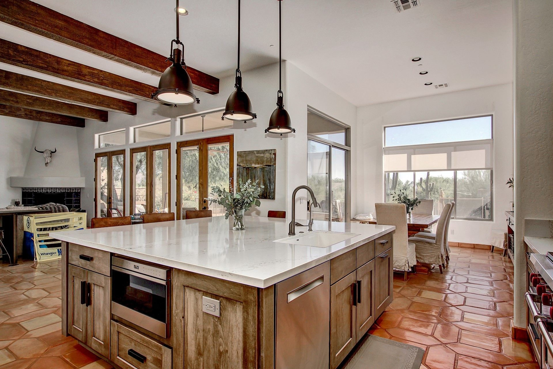 Beautiful Weathered Grey Industrial Southwestern Styled Kitchen This Was A Custom Finish Of Tatte Kitchen Remodel Kitchen Remodeling Companies Kitchen Styling