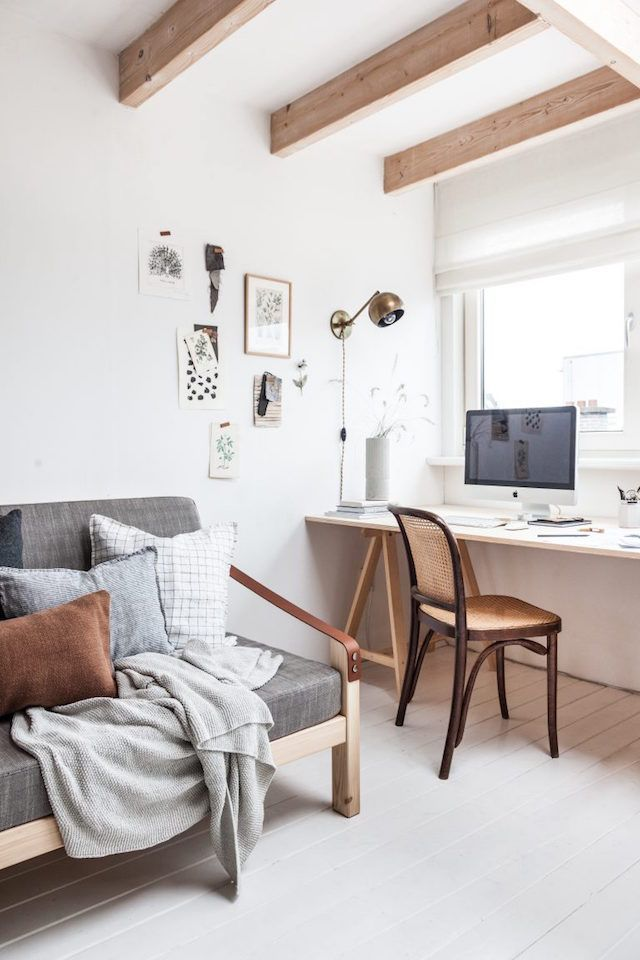 A Studio Is Transformed Into A Lovely Guest Room My Scandinavian Home Home Office Bedroom Guest Room Office Combo Bedroom Office Space