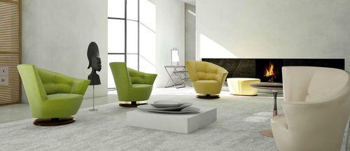 Contemporary armchair / swivel ARABELLA by Carlo
