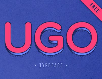 6 Layer | Free Typeface Engreved / 3D / Rain / Shadow / Line / PoisUGO is a free font design with different combinations. Playing with layers and colors! EnjoyDOWNLOADhttp://goo.gl/XdQoQ4
