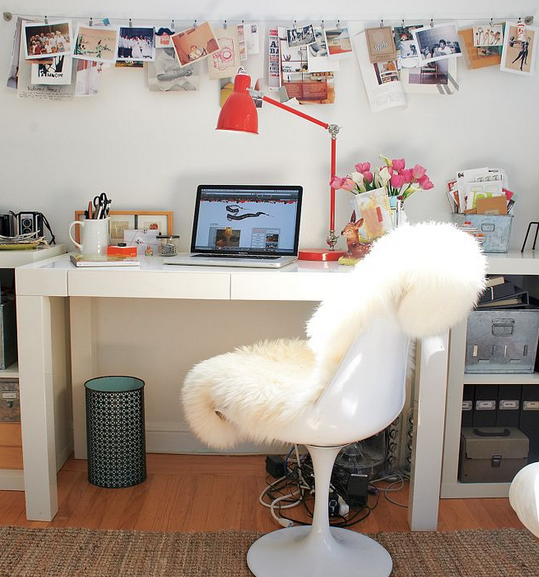 White Fur Office Chair   Google Search