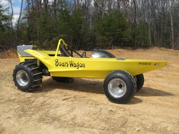 Craigslist Find A Bizarre Banana Colored Boat Car Weird But Oddly Awesome Amphibious Vehicle Cool Boats Boat
