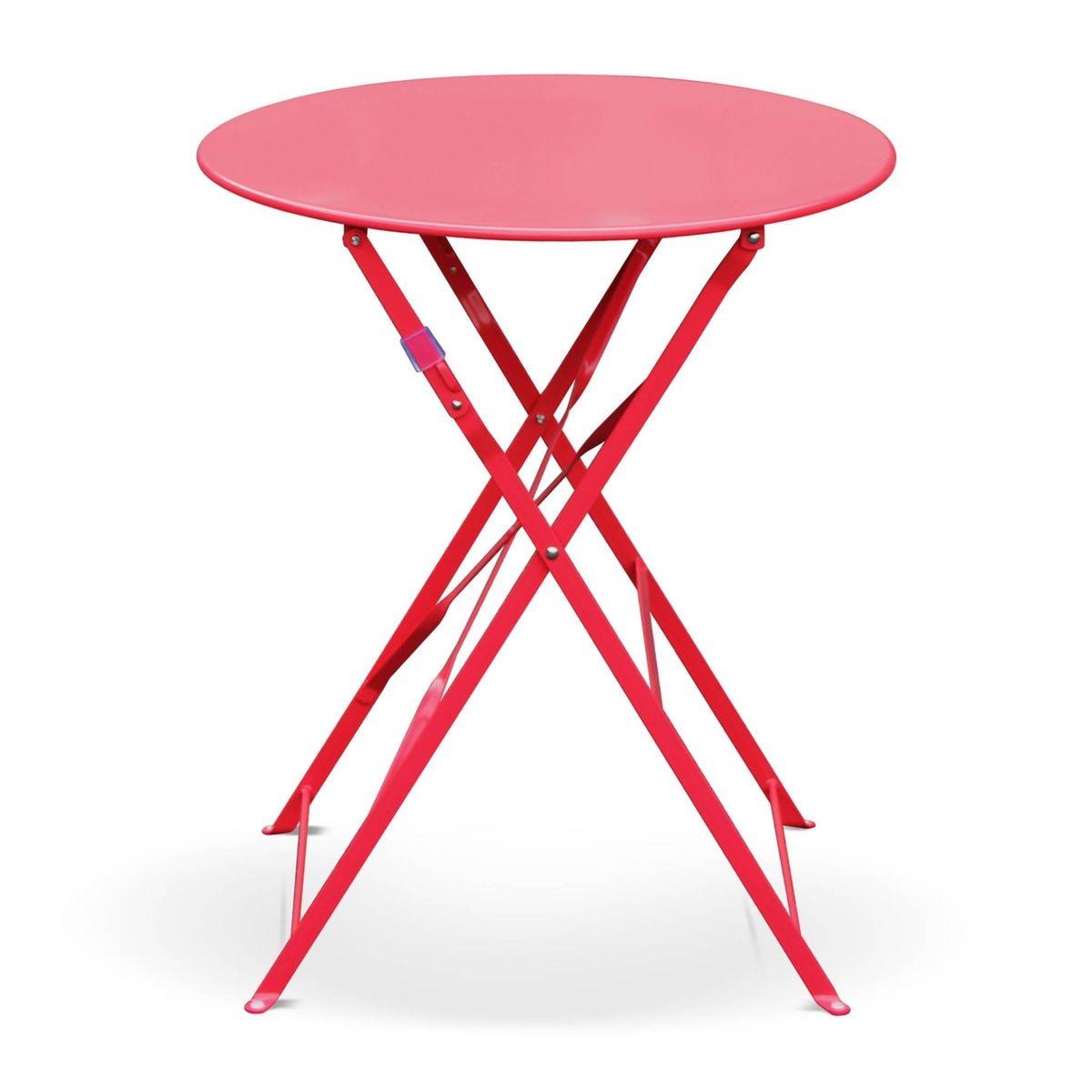 Table De Jardin Bistrot Pliable - Emilia Ronde Anthracite ...