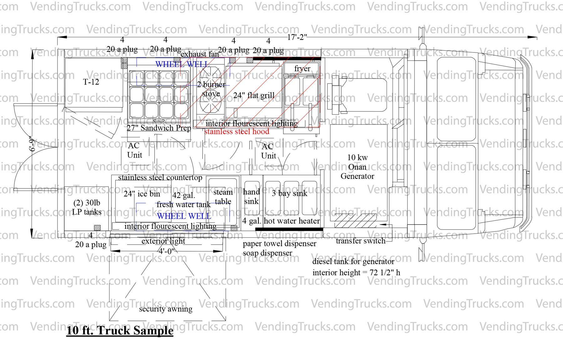 Free blueprint for food trucks food truck floor plans blue free blueprint for food trucks food truck floor plans malvernweather Images