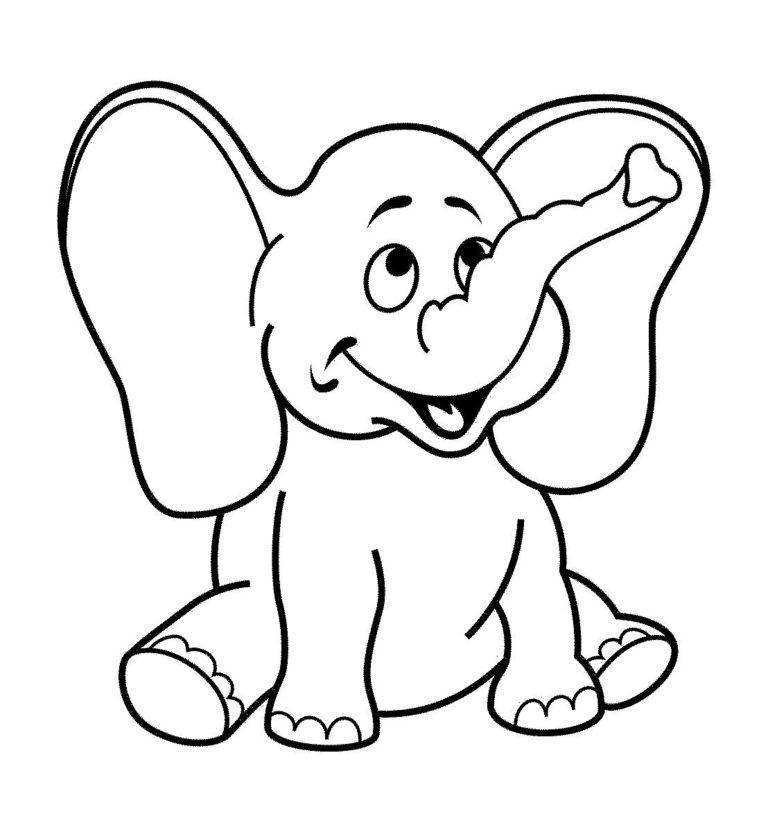 Dibujos De Elefantes Tiernos Para Colorear Dibujos De Elefantes Actividades Para Ninos De 3 Anos Actividades Del Color