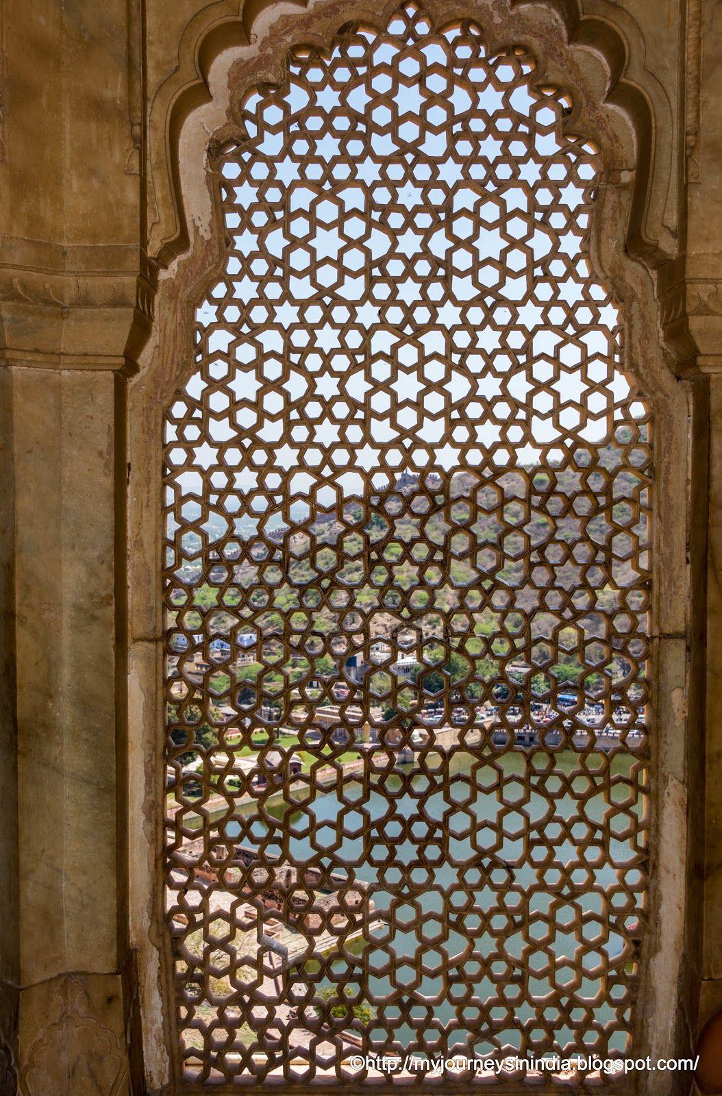 Latticed Windows in Amer Fort Jaipur
