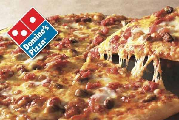 Free Medium Two Topping Dominos Pan Pizza Domino S Pizza