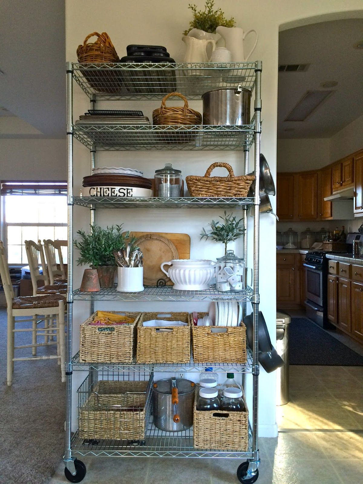Creating A Pantry   Metal Bakeru0027s Racks And Baskets Are The Perfect Fix For  Creating Your
